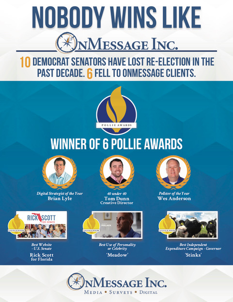 OnMessage Wins 6 Pollie Awards